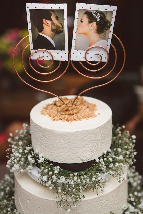 Topo de bolo divertido para casamento
