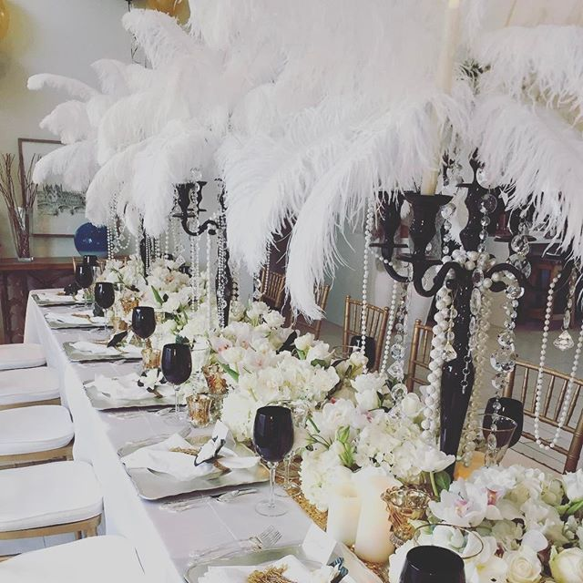 "'""What'll we do with ourselves this afternoon?"" cried Daisy, ""and the day after that, and the next thirty years?"" We shall plan and party Daisy ! . . . #luckyboxcutter #gatsby #events #eventplanner #tabledecor #palmsprings #greatgatsby #twenties #flapper #eventprofs #eventdesign' by @luckyboxcutter. What do you think about this one? @photocornerto @creativiva @av_irvine @venuemob @billhansenluxurycatering @davidmeek_cbc_clearwave @voilaeventsolutions @pacificeventproductions @aweproduction…"