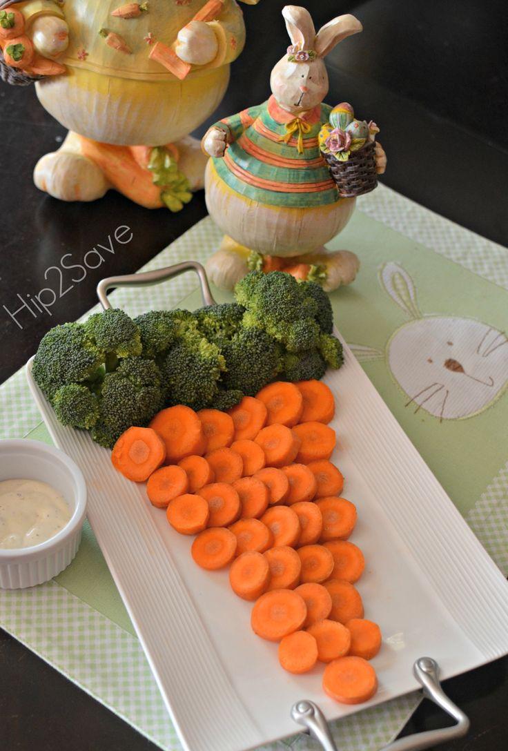 Easter Themed Veggie Tray ~ totally adorable Idea!