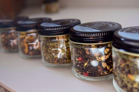 Tea Trio | ORGANIC Loose Leaf Tea Samplers | Beautiful Glass Jar Samplers  | Tea Gift