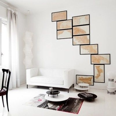 maps multi frame large wall installation rich love the arrangement