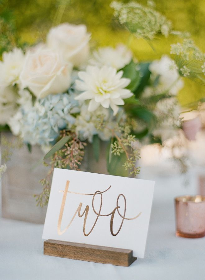 Rustic elegant table number: http://www.stylemepretty.com/2017/04/06/finding-the-perfect-combination-of-rustic-and-elegant/ Photography: Emily Katharine - http://www.emilykatharine.com/