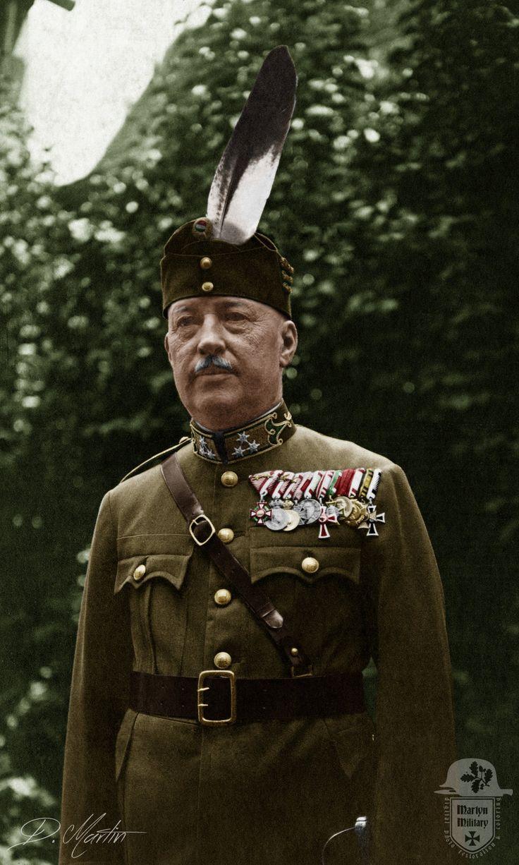 Szépen dekorált magyar colonel.