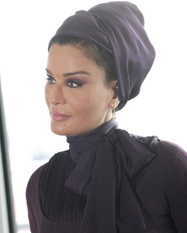 Beautiful Sheikha Mozah. She was wearing Jean Paul Gaultier couture. Photo from HHOPL. #SheikhaMozah  #SheikhaMoza #Kuwait #London #Fashion #Style  #HauteCouture #Couture #JPGaultier #RoyalFashion #RoyalChic #Cartier #RoyalFamily #MozahBintNasser #MozaBintNasser #Qatar #Doha #BestDressed #FashionIcon #Turban #ChicMozah #MostStylish #MonochromaticMozah #QueenofCouture #JeanPaulGaultier