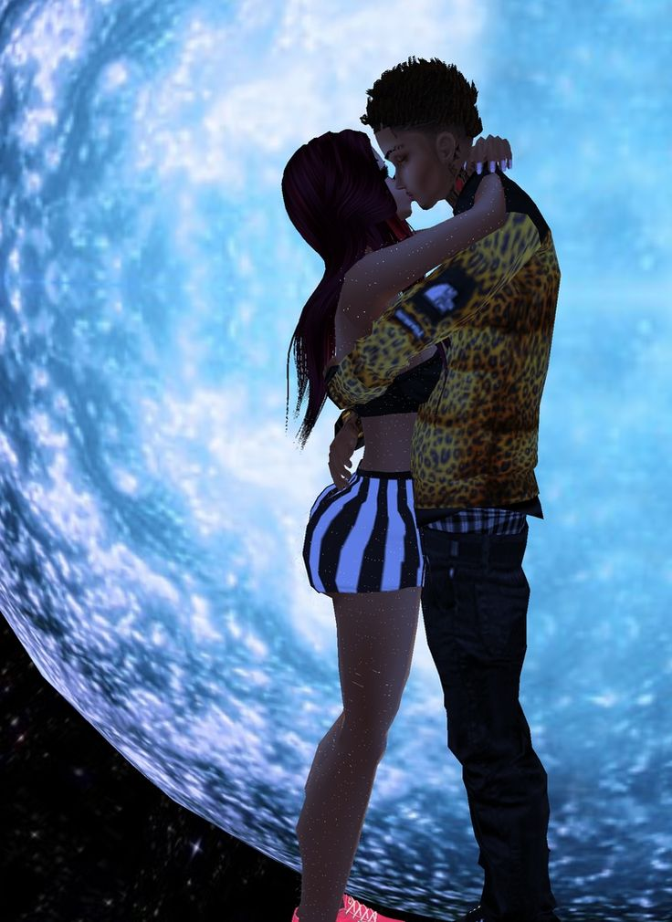 Captured Inside Imvu - Join The Fun  Black Couple Art -6046