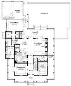 "Home Plan ""Camden Place"" | Sater Design Collection House Plans #floorplan"