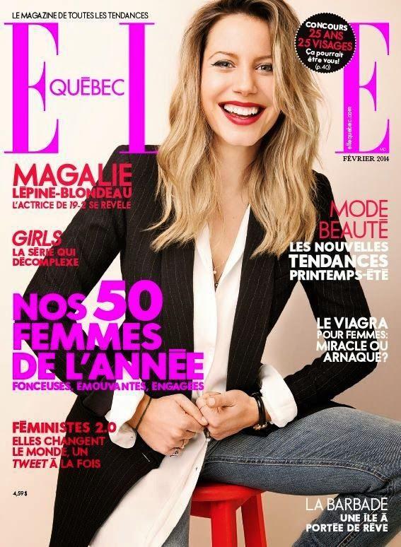 Magalie Lépine Blondeau for Elle Quebec February 2014