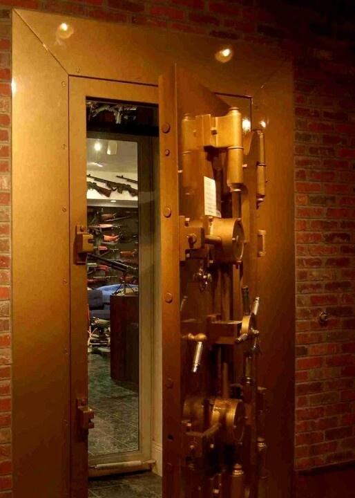Gun room vault door - now that's what I'm talking about!!!