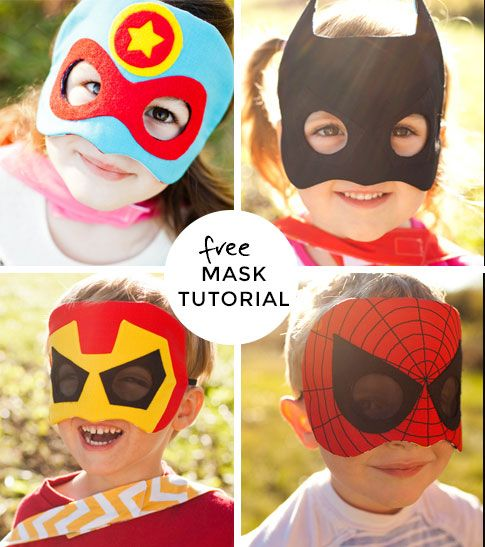 super hero party with super hero mask sewing tutorial