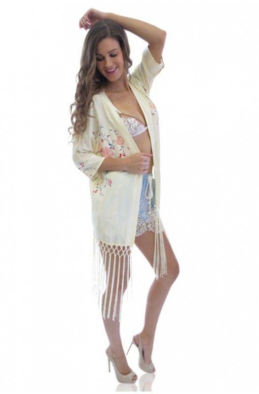 Secret Escape Tassel Kimono- Last Item in Stock. Hurry Now! Available at A$42.95.