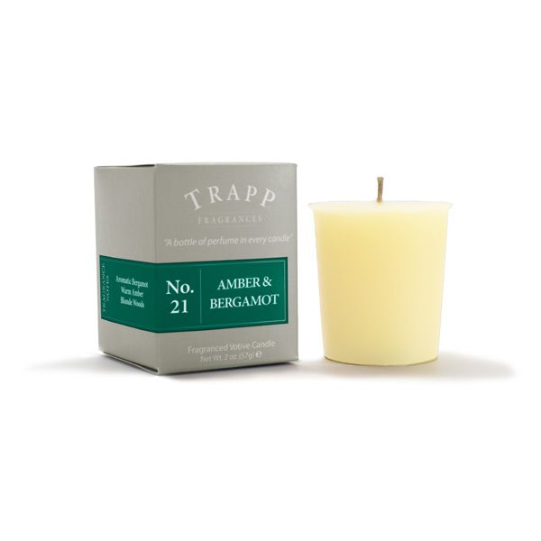No 21 Amber & Bergamot - 2oz Votive Candle | Trapp Candles