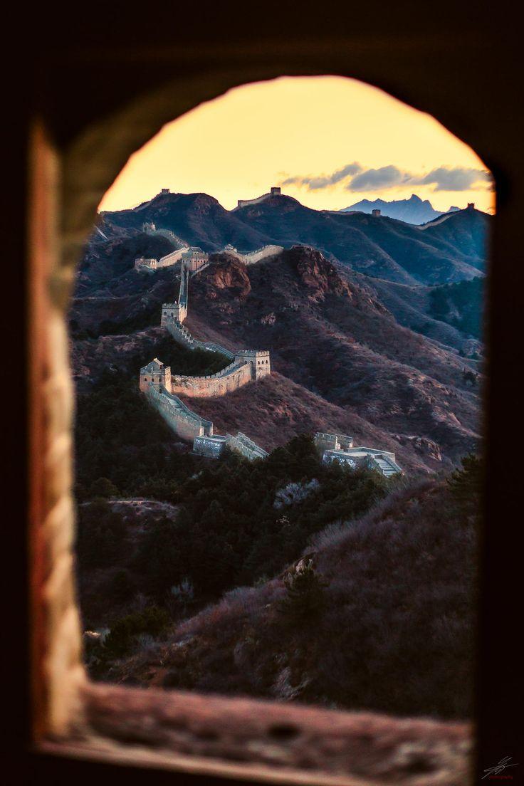 Sunrise chinese wall - Beijing - China