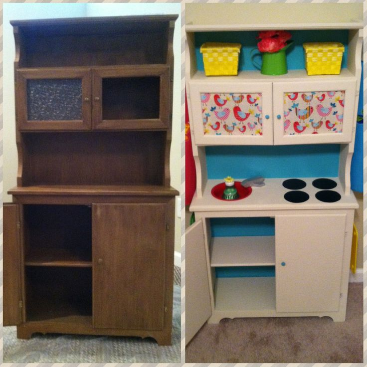 34 best images about repurposing furniture for kids on for Diy kids kitchen ideas