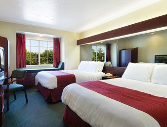 Standard Two Queen Bed Room   Microtel Inn and Suites Brandon   1130 Oak Street, Brandon, MS 39042   601-591-5858   http://www.microtelinn.com/ #MicrotelInnandSuites #Brandon #hotel #travel #Family #Fun
