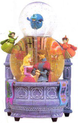 Disney Sleeping Beauty double bubble Snowglobe