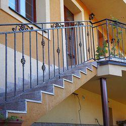 Außengeländer – Treppe zur Terrasse