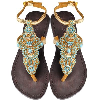 sandals: Pretty Sandals, Turquoise Water, C 4191, Turquoise Gold Beads, Sandals Mystique, Water Beads, Mystique Style, Mystique Sandals, Beads Sandals