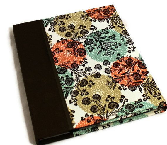 iPad case,  iPad cover, hardcover iPad 2 case, iPad 3 cover, Stand - Personalized, Brown Floral. $55.00, via Etsy.