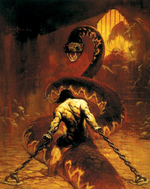 comicartappreciation:  Conan the Barbarian by Frank Frazetta
