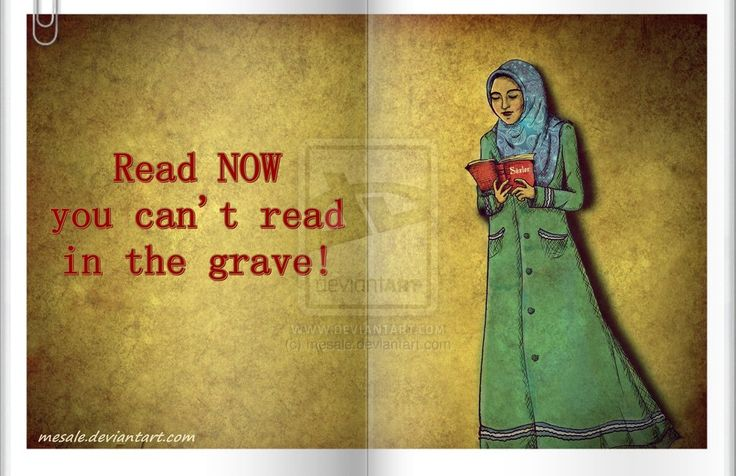 Read now, you can't read in the grave! Art by mesale. Via Devaint Art.