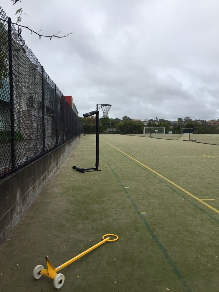 Physical environment: this helps promote physical activity by providing access to free equipment such as a netball ring.