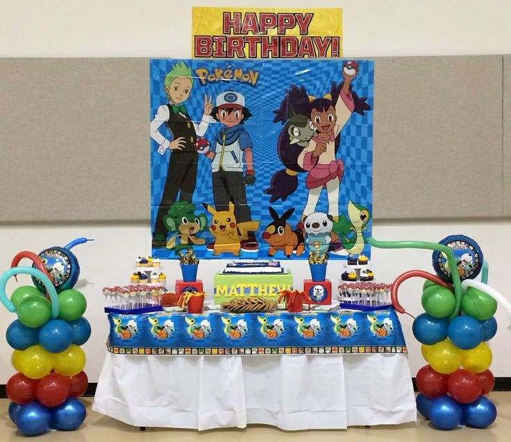 Pokemon Themed Sweets Table Dessert Tables Amp Candy