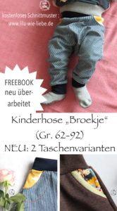 Broekje Kinderhose Freebook – 2 Varianten für Hosentaschen