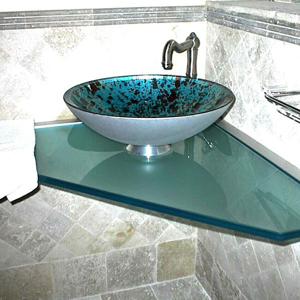 Gorgeous Corner Vessel Sink Extraordinary Corner Bathroom Vanity