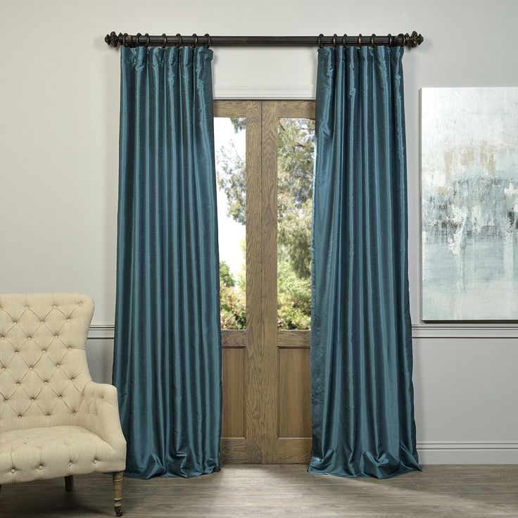 Half Price Drapes Vintage Textured Faux Dupioni
