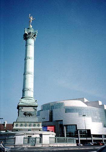 Opera Bastille et la colonne de Juillet