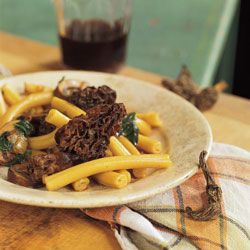 """Wild Mushroom Pasta- """"here's a secret: Because of their concentrated flavor, you only need a few dried morels and the water they soak in to perfume an entire sauce."""""""