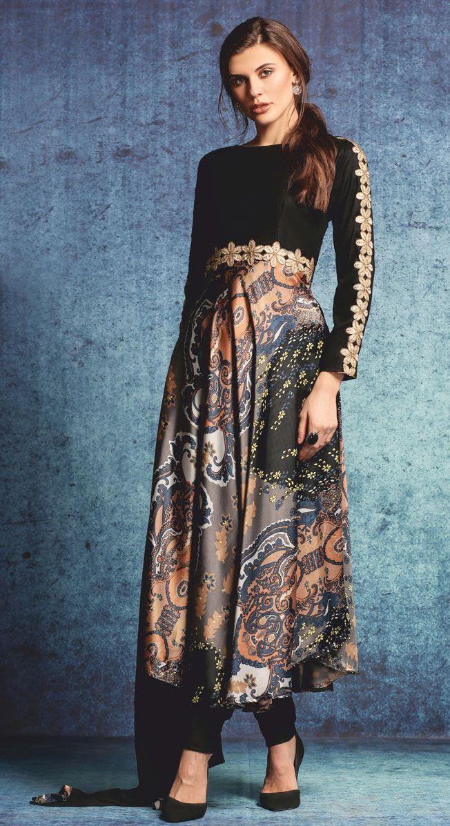 PS-459 - Black - Suits - Ladies Wear - Diya Online                                                                                                                                                                                 More
