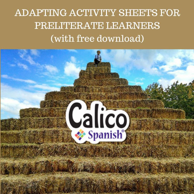 Get your FREE download! And read all about how to adapt activity sheets for preliterate learners.