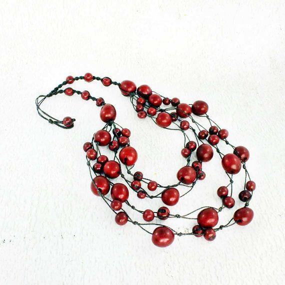 Eco sieraden  rode verklaring ketting  Multi door ArtisansintheAndes