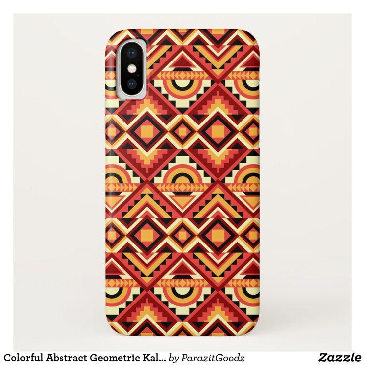 Colorful abstract geometric kaleidoscope pattern casemate