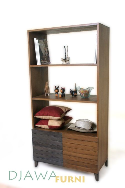 Cora Display Rack, house your library of books or keep art and collectibles in this handsome display rack that offers a high-quality storage for your home office or living room.