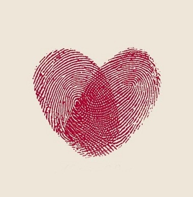 This would be an awesome tattoo with one half my husband's fingerprint and the other half mine