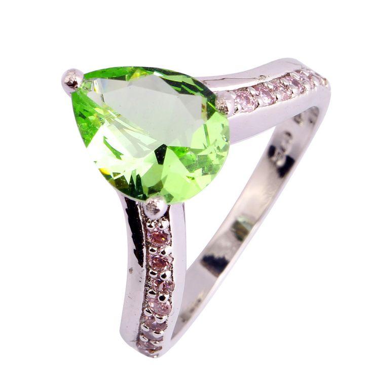 Encontrar Más Anillos Información acerca de Clásico mujeres gota de joyería agua verde amatista 925 anillo de plata tamaño 6 7 8 9 10 venta al por mayor envío gratuito, alta calidad las ranuras del anillo, China equipo de la joyería Proveedores, barato joyería del anillo de WEILING Fashion Jewelry Co.,Ltd 2014 en Aliexpress.com
