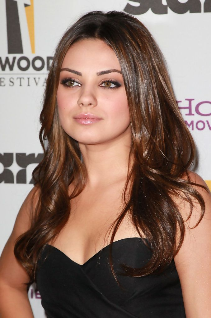 Mila Kunis- when I was a full natural brunette people were always comparing me to this chica