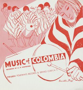 """Music of Colombia by Various Artists - """"These recordings were made in 1951 by Dr. Andrew H. Whiteford in the little city of Popayán, in southwestern Colombia. Two types of traditional music are found in Popayán: the murga and the chirimía. The Spanish word murga means 'a wandering band of street musicians.' It is sometimes called a conjunto. Musical groups called chirimías are found in many parts of Colombia particularly in the Departament of Cauca..."""""""