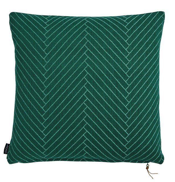 Herringbone floor cushion OYOY / huge big sitting floor pillow / feather filled cushion / emerald green geometric cushion