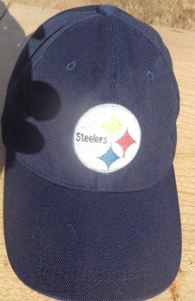 7479a073 Vintage Pittsburgh Steelers STRAPback Hat Baseball Cap Rare Retro ...