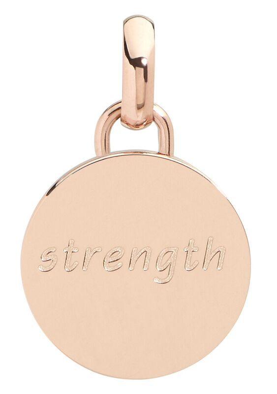 Strength pendant, 15mm, rose gold