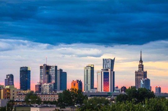 Warszawa Panorama - plakat premium