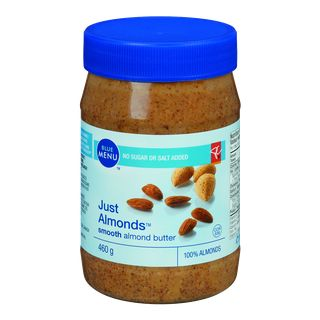 PC Blue Menu Almond Butter - 100% California almonds produce a rich, nutty flavour. No added salt or sugar.