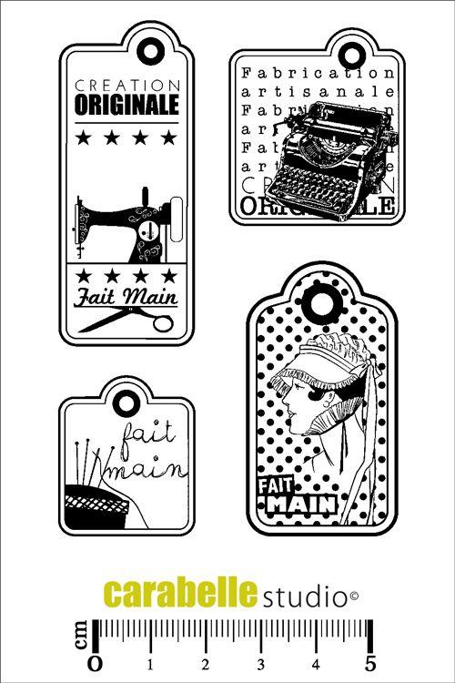 Achetez des tampons Etiquettes - Carabelle Studio - SCRAPBOOKING