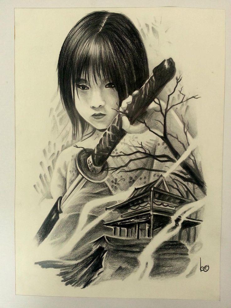 girl japanese samurai