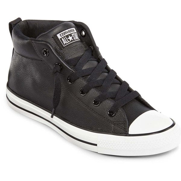 Converse Unisex Chuck Taylor All Star Street Sneakers ($65) ❤ liked on Polyvore featuring shoes, sneakers, converse, men, boys, converse sneakers, converse trainers, star shoes, lace up sneakers and rubber sole shoes