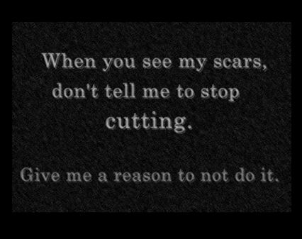 It's very hard when someone notices you self harm and they act like they don't care...it's even worse when they blame or insult you for doing it...