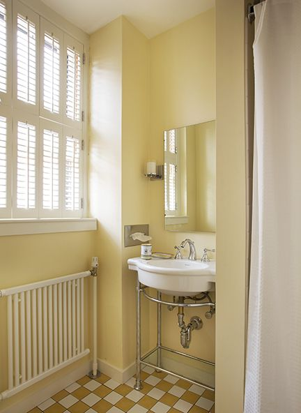 Yellow Bathroom Remodeling  Morse Constructions